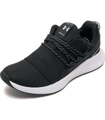 tenis lifestyle negro-blanco under armour charged breathe lace