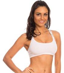 sutiã top costas cruzadas branco capricho - 310.801 capricho lingerie sutiã top branco