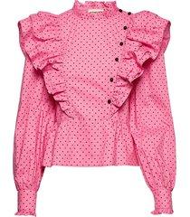 dafina blus långärmad rosa custommade