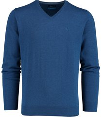 bos bright blue vince v-neck pullover flat kn 21105vi01bo/240 blue