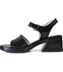 sandalia negra briganti mujer samal