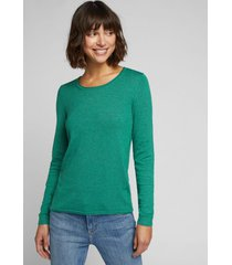 sweater mujer liso verde oscuro esprit