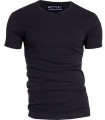 garage basis t-shirt v-hals semi bodyfit zwart