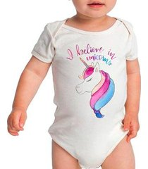 body bebê criativa urbana a believe in unicorns feminino