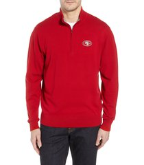 cutter & buck san francisco 49ers - lakemont regular fit quarter zip sweater, size xx-large in cardinal red at nordstrom