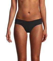 solid high leg bikini bottoms