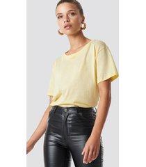 na-kd basic basic oversize t-shirt - yellow