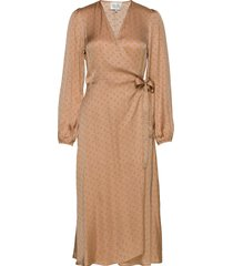 berri ls wrap dress jurk knielengte second female