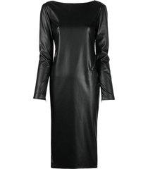 tom ford zip-detail open back dress