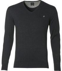 nils pullover - slim fit - zwart