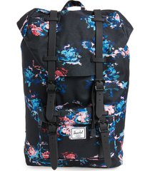 herschel supply co. little america - mid volume backpack - black