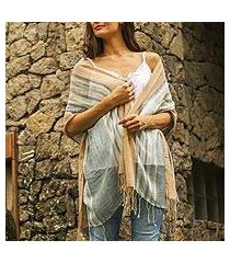 cotton shawl, 'cloud stream' (indonesia)