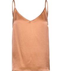 cam silk top t-shirts & tops sleeveless orange minus