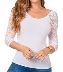blusa aleja blanco para mujer croydon
