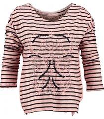 garcia roze sweater 3/4 mouw