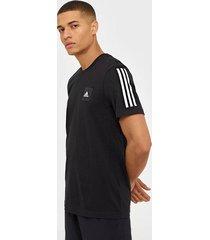 adidas sport performance m mhd tee 3s tränings t-shirts svart