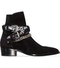 amiri bandana ankle boots - black