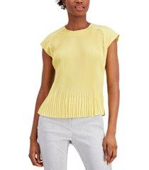 alfani pleated sleeveless top, created for macy's