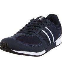 zapatilla azul fila f-retro sport 2.0 masc