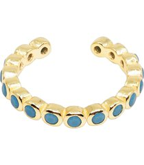 women's ragen jewels turquoise halo ear cuff
