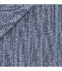 giacca da uomo su misura, reda, blu notte spigata biella, autunno inverno   lanieri