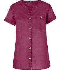 camicetta in cotone a maniche corte (viola) - bpc bonprix collection