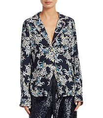 juliet silk print pajama shirt