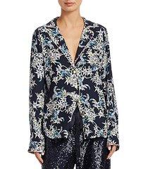 juliet silk print pajama shirt