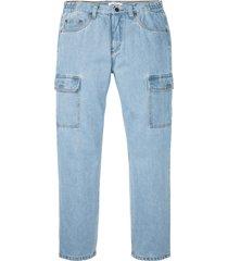 jeans cargo classic fit straight (blu) - john baner jeanswear