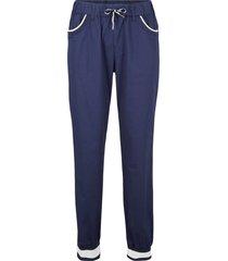 pantaloni in popeline con cinta a costine (blu) - bpc bonprix collection