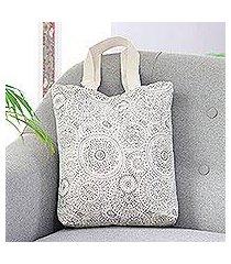 cotton canvas tote, 'spherical creativity' (india)
