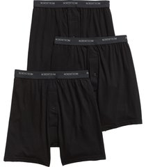 men's nordstrom 3-pack supima cotton boxers, size x-large - black