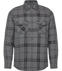 lm check flannel shirt overhemd casual grijs o'neill