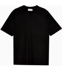 mens black ribbed t-shirt