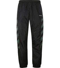 off-white diag nylon track pants
