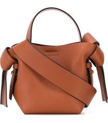 acne studios micro musubi crossbody bag - brown