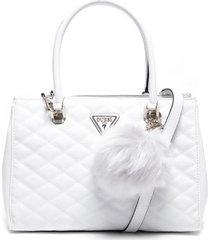 cartera astrid luxury satchel blanco guess