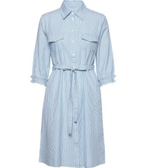 cuneva shirt dress jurk knielengte blauw culture