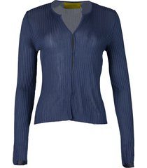 fitted cardigan deep blue