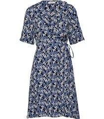 baraka dress knälång klänning blå nué notes