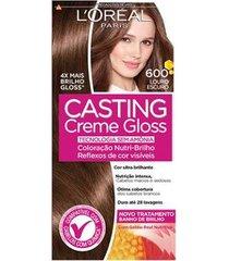 coloração casting creme gloss l'oréal paris 600 louro escuro