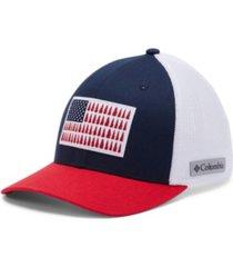 columbia men's mesh tree flag ball cap