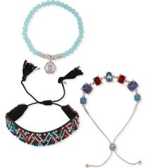 guess 3-pc. set mixed bracelets