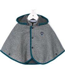 familiar hooded cape - grey