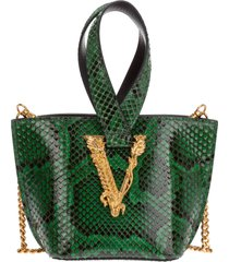 borsa donna a mano shopping in pelle virtus python