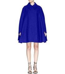 felted babydoll cape coat in indigo