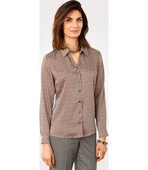 blouse mona bruin::ecru