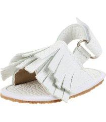 sandalia blanca john stone flecos