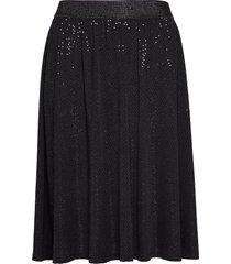 mnuna, blk, skirt knälång kjol svart zizzi