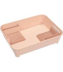 escorredor de louças basic 45x35cm rosa blush